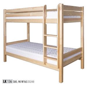 Łóżko piętrowe – LK136