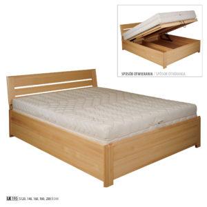 Łóżko bukowe – LK195