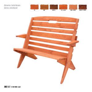 Ławka z drewna świerkowego- MO107