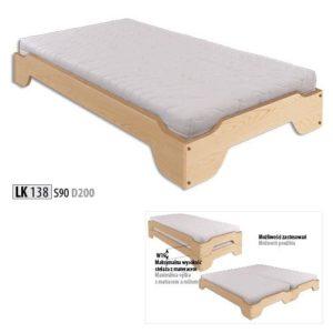 Łóżko drewniane sosnowe LK 138