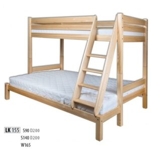 Łóżko drewniane sosnowe LK 155