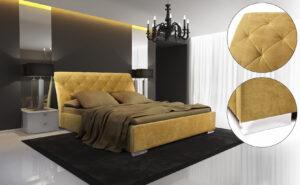 Łóżko tapicerowane XAVIER
